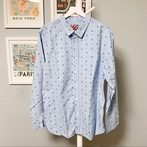 Modern Amusement Anchor Pattern Shirt XL